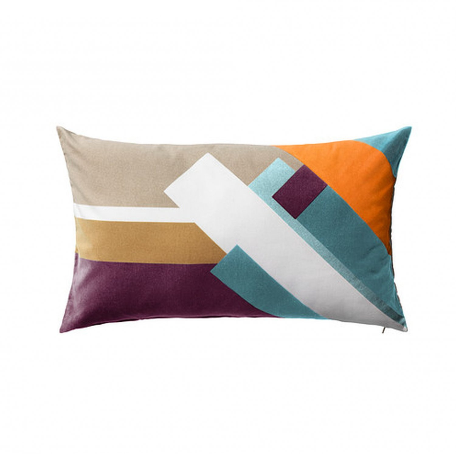 """IKEA Luktaster CUSHION COVER Pillow Sham MULTICOLOR 16"""" x 26"""" Lumbar MODERN Velvet"""