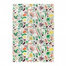IKEA Hemtrevnad VEGETABLE Pattern Fabric Material 1 Yd Multicolor Fruit Farm Garden Produce