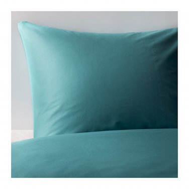 IKEA Gaspa KING Duvet COVER and  Pillowcases Set TURQUOISE Blue Green Sateen Woven G�SPA