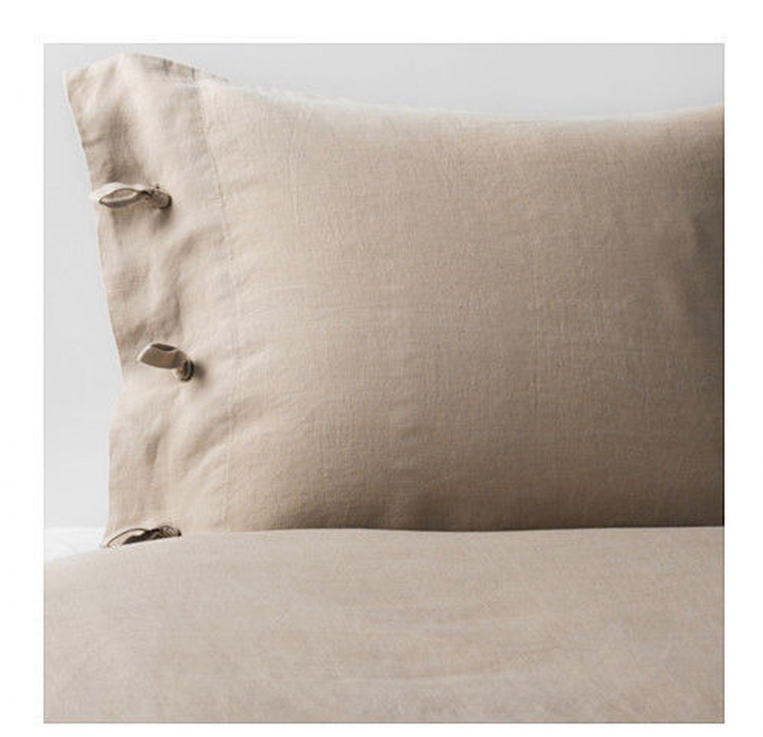 IKEA Linblomma KING Duvet COVER and Pillowcases Set LINEN Natural Beige