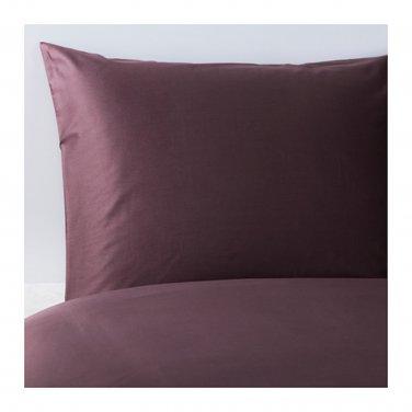 IKEA Gaspa QUEEN Full Duvet COVER and  Pillowcases Set DARK LILAC Purple G�SPA Soft