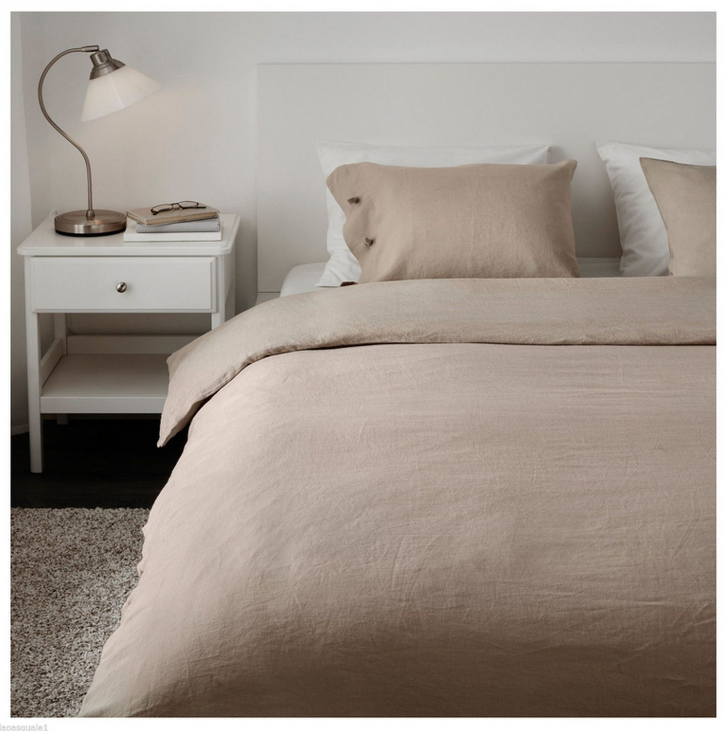 Ikea linblomma queen full duvet cover and pillowcases set for Ikea bed covers sets queen
