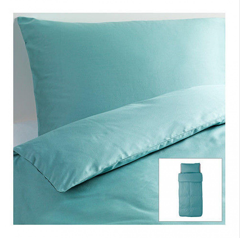 Ikea Gaspa Twin Duvet Cover And Pillowcase Set Turquoise