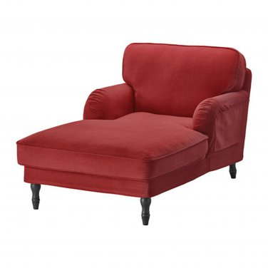 IKEA Stocksund Chaise Longue SLIPCOVER Cover LJUNGEN LIGHT RED Velvet