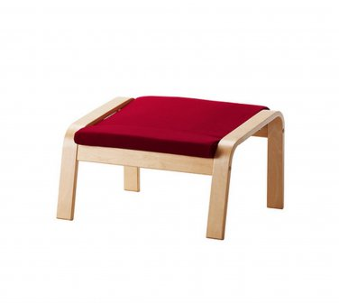 IKEA Poang PO�NG Footstool CUSHION DANSBO MEDIUM RED Ottoman Cover