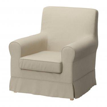 IKEA Ektorp JENNYLUND Armchair SLIPCOVER Chair Cover TYGELSJO BEIGE Tygelsjö