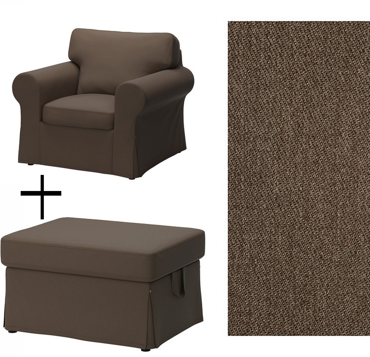 Ikea Ektorp Armchair And Footstool Covers Slipcovers