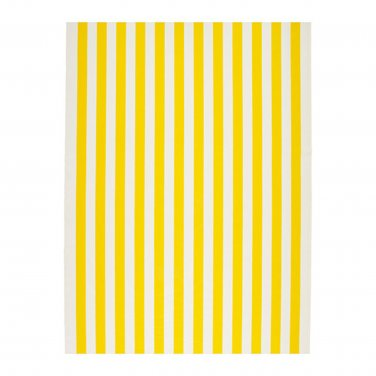 IKEA Sofia FABRIC Material 1 Yd YELLOW White Broad Stripe Cabana Print