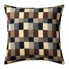 IKEA STOCKHOLM Pillow COVER Sham Cushion BEIGE Brown Gray Black CHECK Modern