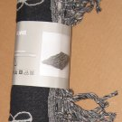 IKEA Vilmie Bedspread BLANKET GRAY Afghan Throw Knit GREY Wool LARGE African