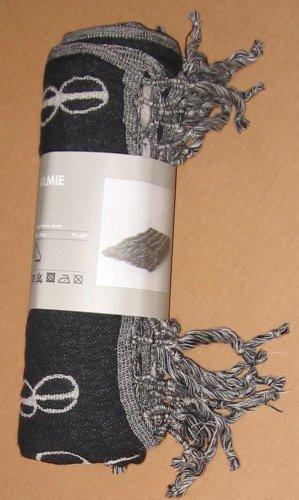 IKEA Vilmie Bedspread BLANKET GRAY Afghan Throw Knit GREY Wool LARGE African