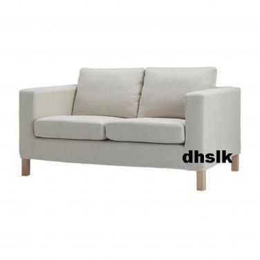 IKEA KARLANDA 2 Seat Sofa SLIPCOVER Loveseat Cover LINDRIS BEIGE Linen Blend
