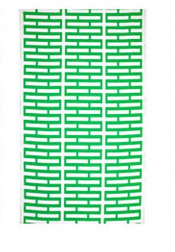 IKEA Avsiktlig Fabric Material GREEN White Print 1yd  Geometric Rectangles LIMITED EDITION