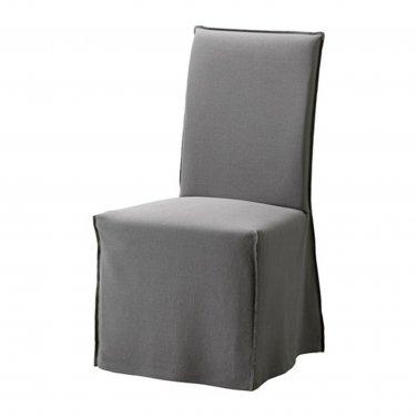 "Henriksdal Chair SLIPCOVER Cover Skirted RISANE GRAY Grey 21"" 54cm W"