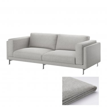 IKEA Nockeby 3 Seat Sofa SLIPCOVER Cover TALLMYRA Black White