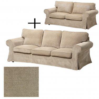 IKEA Ektorp 3 and 2 Seat Sofa SLIPCOVERS Sofa Loveseat Covers VELLINGE BEIGE