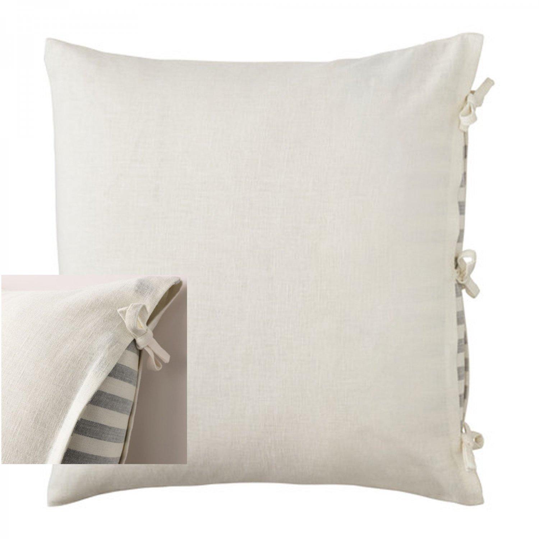 Ikea Ursula Cushion Cover Pillow Sham Ramie White 26 Quot X 26