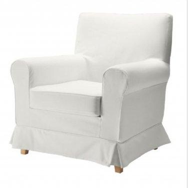 IKEA Ektorp JENNYLUND Armchair SLIPCOVER Cover BLEKINGE WHITE Cotton