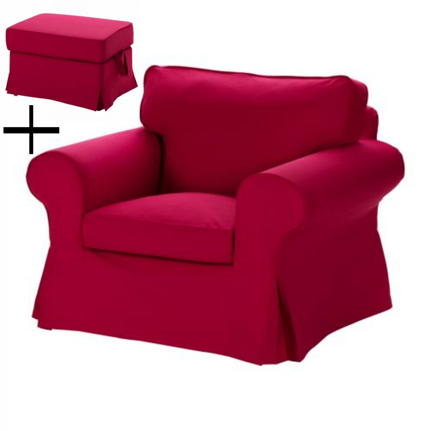 Ikea Ektorp Armchair And Footstool Slipcovers Chair