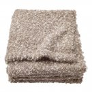 IKEA Stockholm Throw BLANKET Beige Mohair Acrylic Wool Photo PROP Textured Brown Xmas Gift