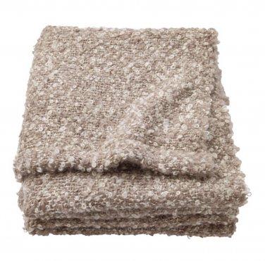 IKEA Stockholm Throw BLANKETBeige Mohair Acrylic Wool Photo PROP Textured Brown Xmas Gift