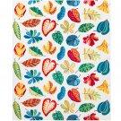 IKEA JONILL Fabric Material Scandinavian Mid-Century 1 Yd Linen Blend Leaf Floral Autumn