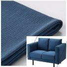 IKEA Norsborg 2 Seat Loveseat Sofa Section SLIPCOVER Cover EDUM DARK BLUE - no arm covers