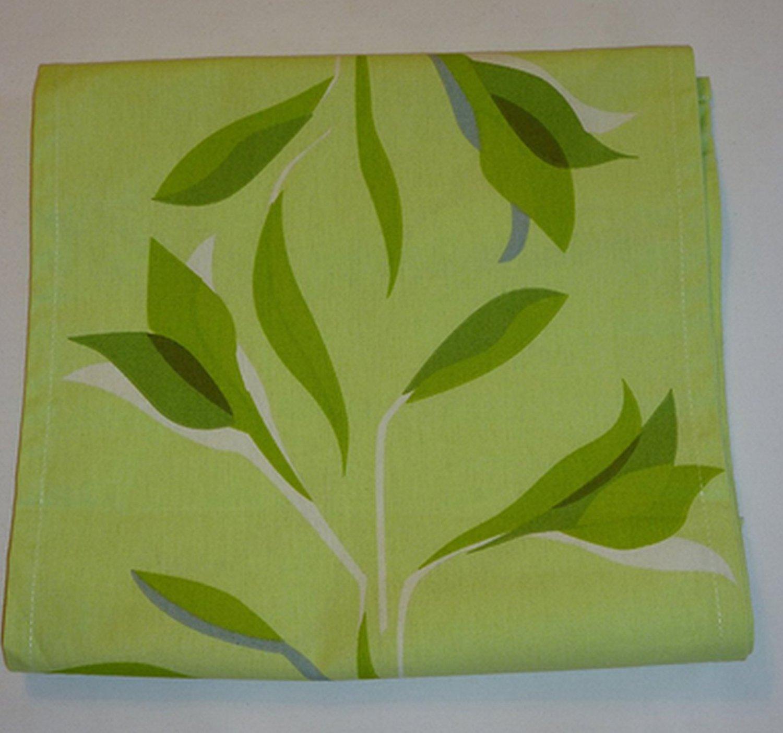 """IKEA Gittan TABLE RUNNER Green Leaf 102"""" x 16"""" Retro"""