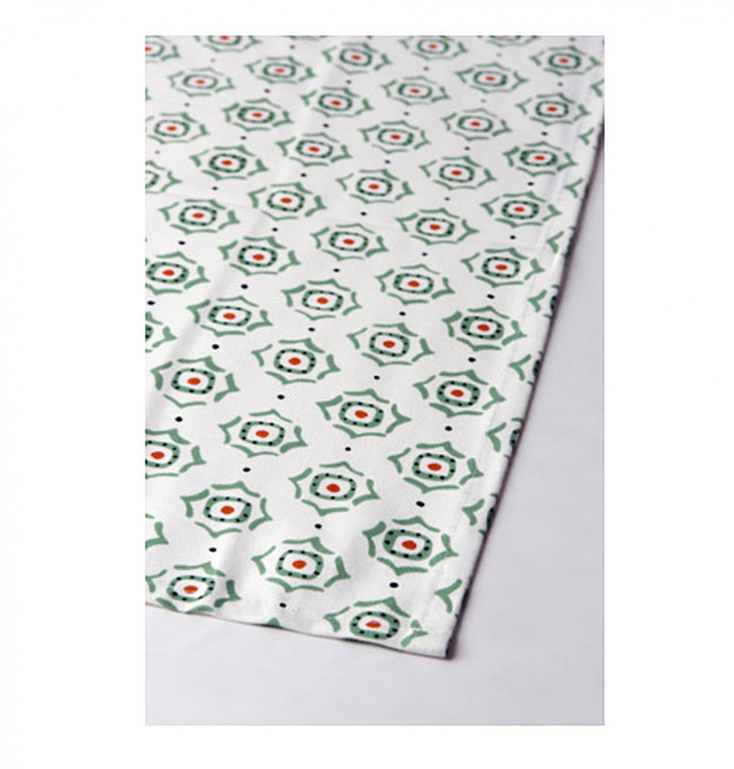 "IKEA Enigt TABLE RUNNER Gray White Red Green 102"" x 16"" Retro Xmas"