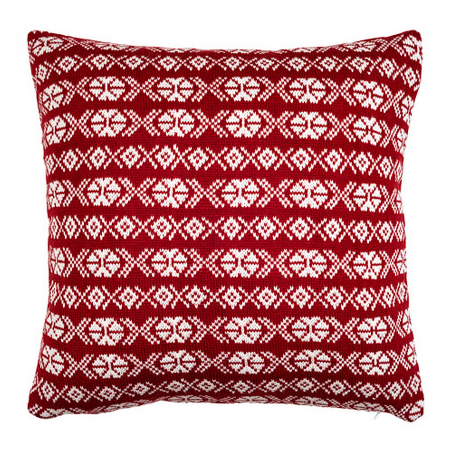 Ikea antilopoga cushion cover pillow sham red white 20quot x for Ikea uk cushion covers