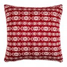 "IKEA Antilopoga CUSHION COVER Pillow Sham RED White 20"" x 20"" Knit ANTILOPÖGA Xmas Nordic"