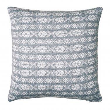 "IKEA Antilopoga CUSHION COVER Pillow Sham GRAY White 20"" x 20"" Knit ANTILOP�GA Xmas Nordic"