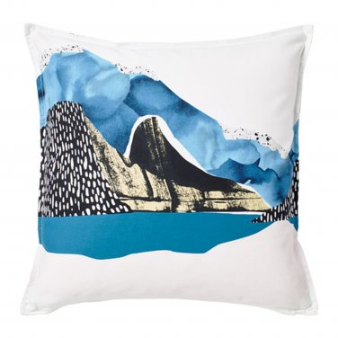 "IKEA Vinter 2017 PILLOW SHAM Cushion Cover Blue White Abstract Landscape 20"" x 20"""