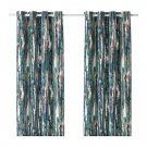 "IKEA Graslilja CURTAINS Drapes 2 Panels  Grommet Eyelet Header 98"" GRÄSLILJA Abstract Forest"