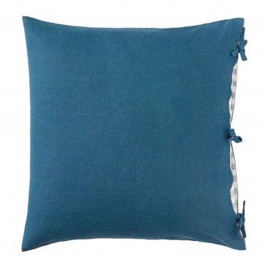 "IKEA Ursula CUSHION COVER Pillow Sham RAMIE Dark Green Blue 26"" x 26"" Turquoise Teal"
