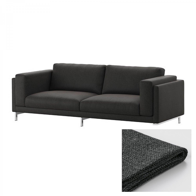 IKEA NOCKEBY SLIPCOVER 3 Seat Sofa COVER Teno DARK GRAY Tenö Dk Grey