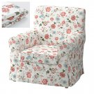 IKEA Ektorp JENNYLUND Armchair SLIPCOVER Chair Cover VIDESLUND Multicolor FLORAL Cottage Romantic