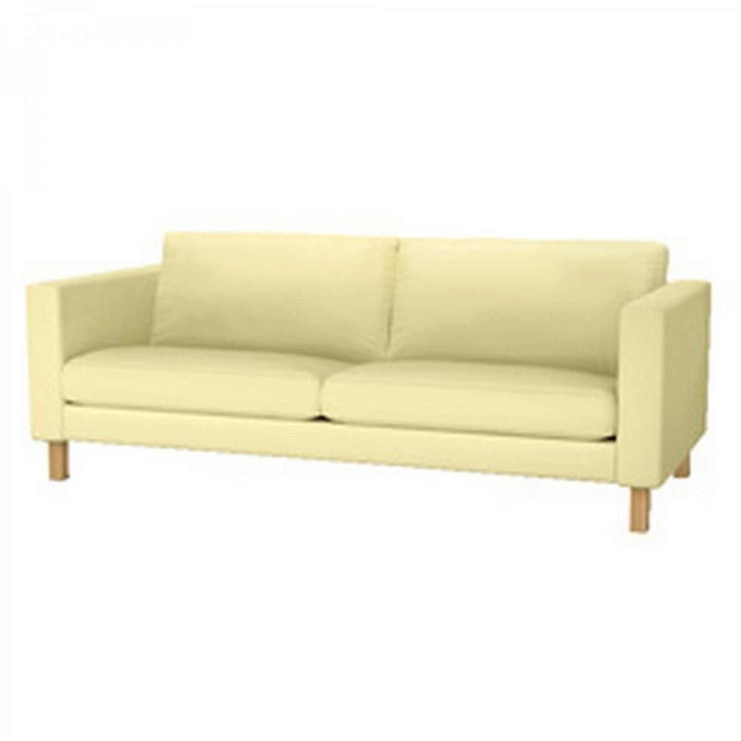 ikea karlstad sofa slipcover cover sivik light yellow 3 seat mid century modern. Black Bedroom Furniture Sets. Home Design Ideas
