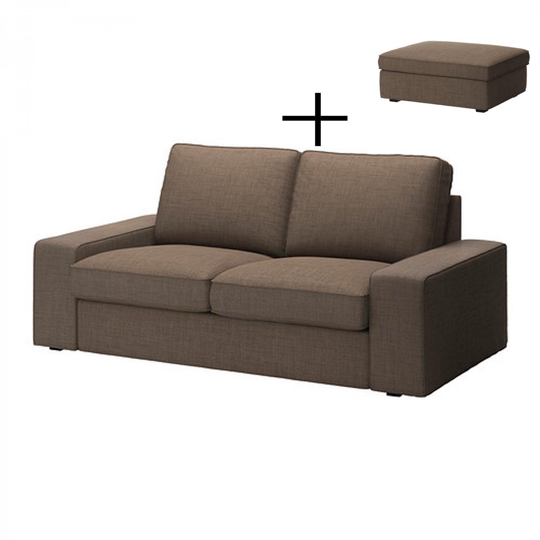 Ikea Kivik 2 Seat Sofa And Footstool Slipcovers Loveseat