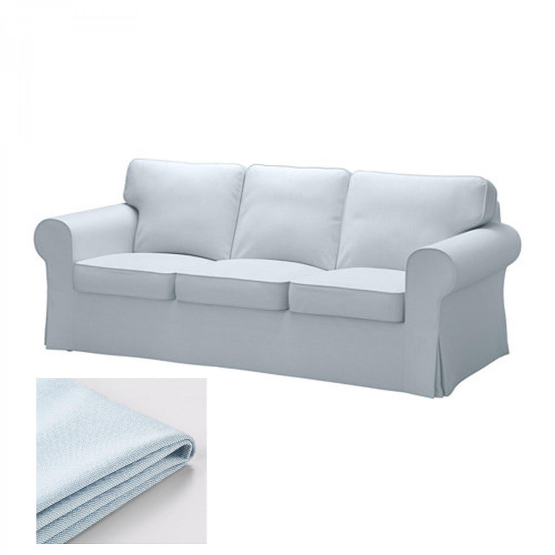 IKEA Ektorp 3 Seat Sofa COVER Slipcover NORDVALLA LIGHT BLUE
