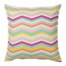 IKEA SOMMAR 2018 Pillow COVER Sham Cushion Cvr MULTICOLOR Zigzag STRIPES Chevron