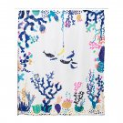 IKEA Lasjon FABRIC SHOWER CURTAIN Multicolor Ocean Fish Undersea LASJÖN