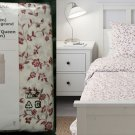 IKEA Hassleklocka QUEEN Full Duvet COVER and Pillowcases Set FLORAL Red White Colonial HÄSSLEKLOCKA
