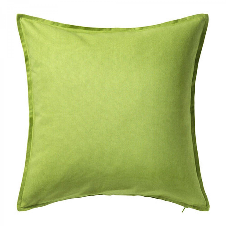 "IKEA Gurli CUSHION COVER Pillow Sham GREEN 20"" x 20"" Zippered"