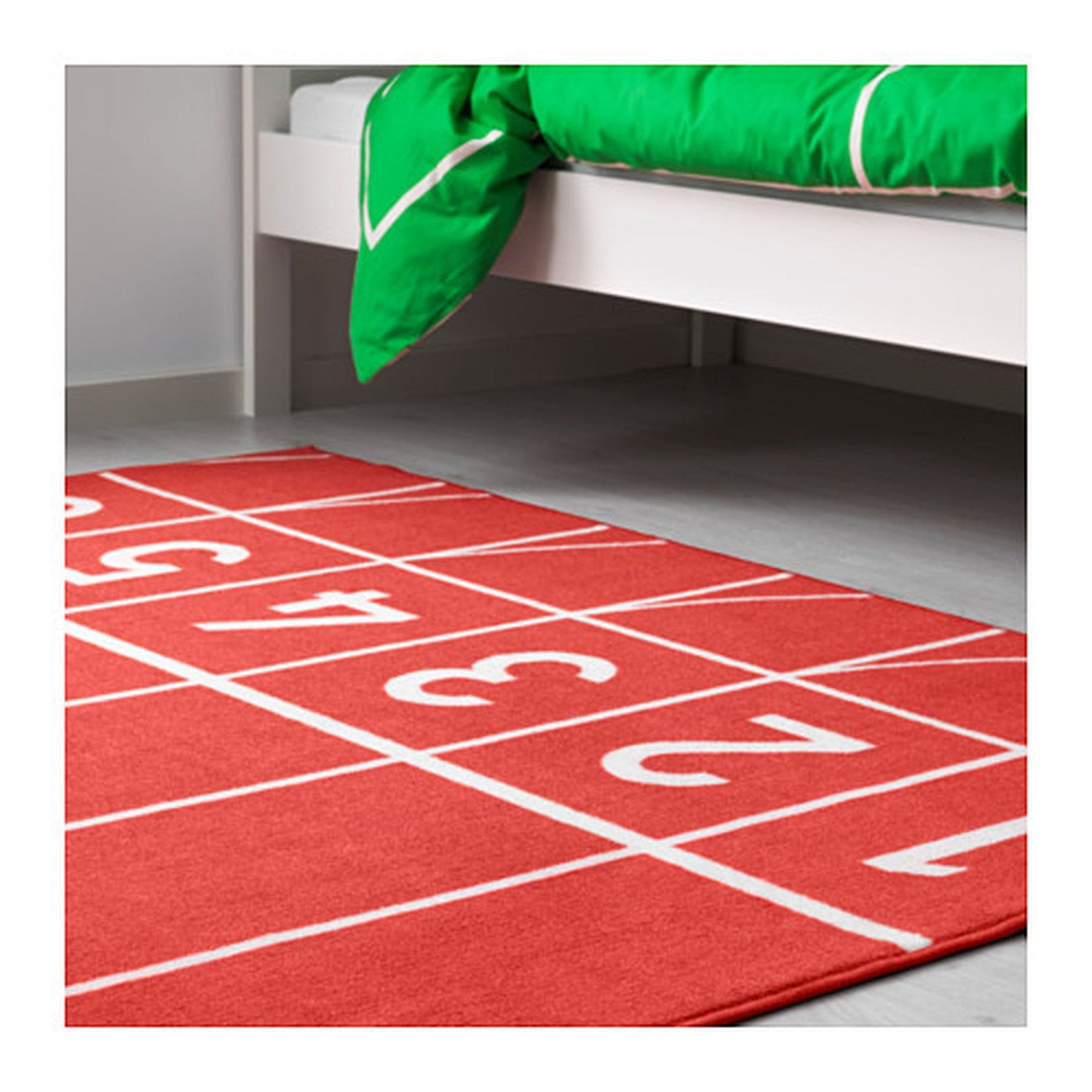 Ikea Kitchen Rugs Canada: IKEA Springa Area Throw RUG Mat RED Kids Decor Track And