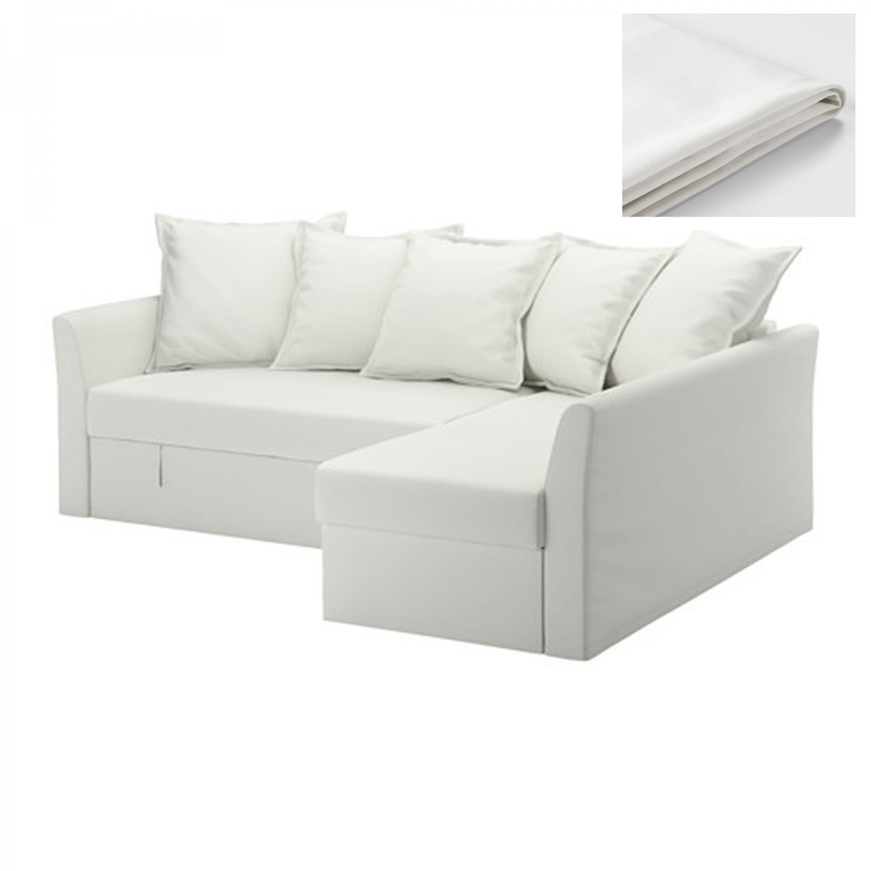 IKEA Holmsund Corner Sofa Bed SLIPCOVER Cover RANSTA WHITE