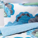 IKEA Doftranka King DUVET COVER and Pillowcases Set Multicolor Blue Green Gray Cloud Zen Sky