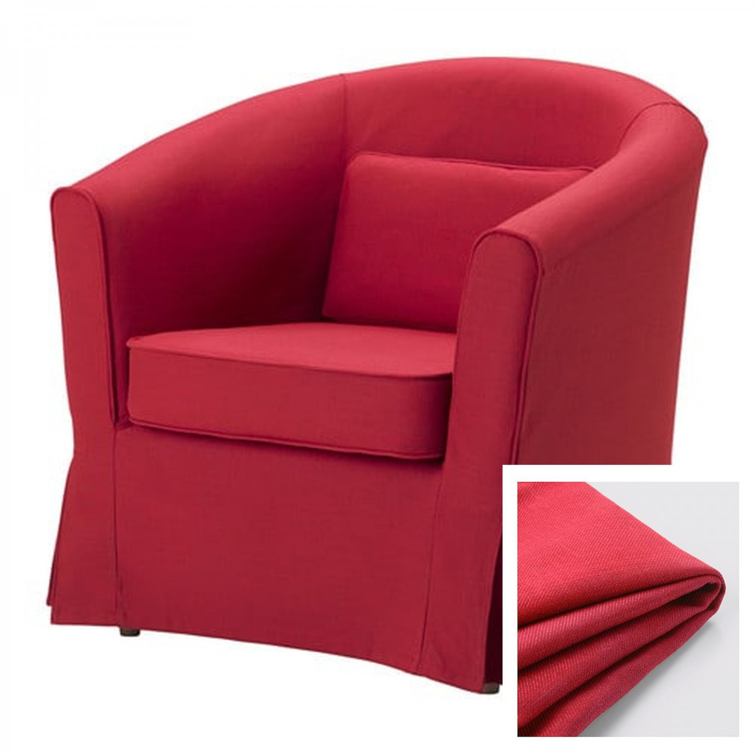 ikea ektorp tullsta armchair slipcover chair cover nordvalla red bezug. Black Bedroom Furniture Sets. Home Design Ideas