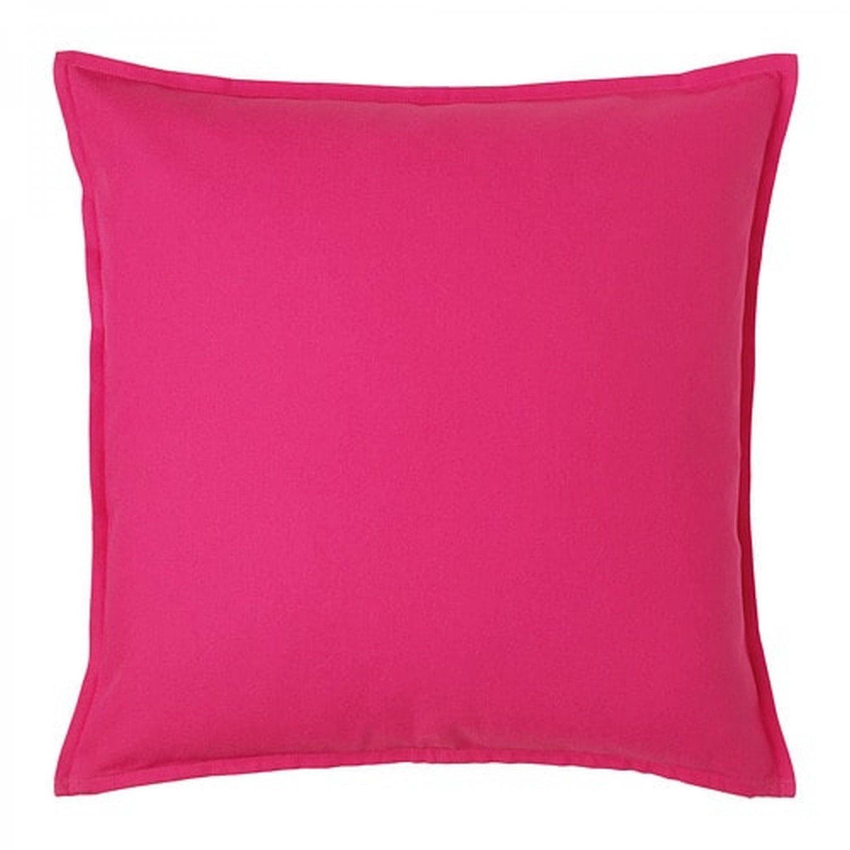 "IKEA Gurli CUSHION COVER Pillow Sham BRIGHT PINK 20"" x 20"" Zippered Hot Fuschia"