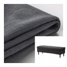 IKEA Stocksund Bench SLIPCOVER Cover NOLHAGA DARK GRAY Grey